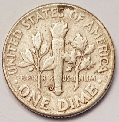 1958-D U.S.A Roosevelt One Dime coin