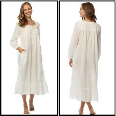 1985b3cd9c Nwt  78 Eileen West Nightgown Small Winter White Ballet Length 100% Cotton  Lawn