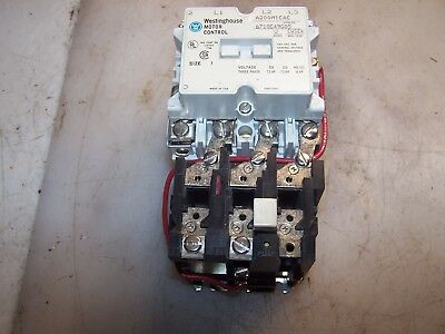 New Westinghouse Size 1 Motor Starter 120 Vac Coil  10 Hp Max A200M1Cac