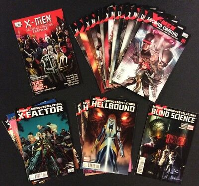 X-MEN SECOND COMING Marvel Crossover Comics CABLE Lot of 22 Books COMPLETE VF