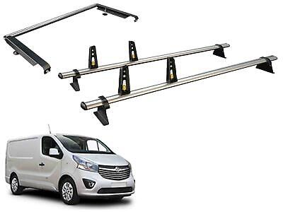 Van Guard ULTI Bar 2 Bars Roof Rack and Rear Roller for Renault Trafic (2014 on)