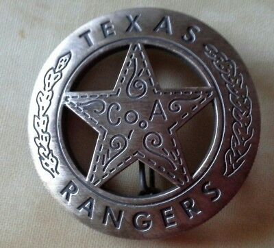 Historische US Polizeimarke: Badge Texas Ranger