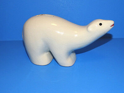 Vintage Polar Bear Bank Hamburger Sparcasse Von 1827 Porcelain Germany