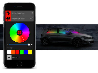 BEPHOS® RGB LED Innenraumbeleuchtung VW T4 Caravelle & Multivan APP Steuerung
