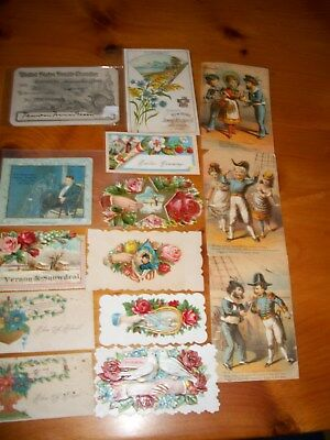 Vintage Paper lot...cards from, new home sewing machine, Turkish trade card etc.