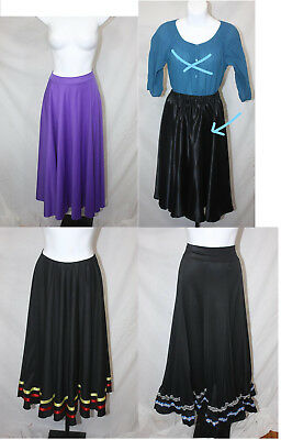Long Polyester Skirts Dance Costumes, Halloween, Recital