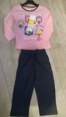 Pink Despicable Me Minions nightwear pyjamas sleepwear NEW  Girls Age 3