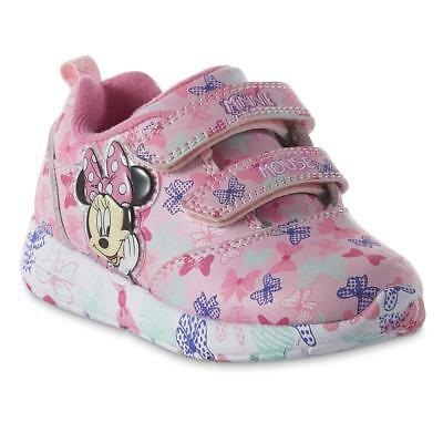 Toddler Light Up Disney Minnie Mouse Sneakers Size 6 7 8 9 10 11 or 12 Bowtique