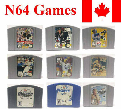 Nintendo 64 N64 Video Games Sport Madden NHL NFL Baseball Football Cartridge