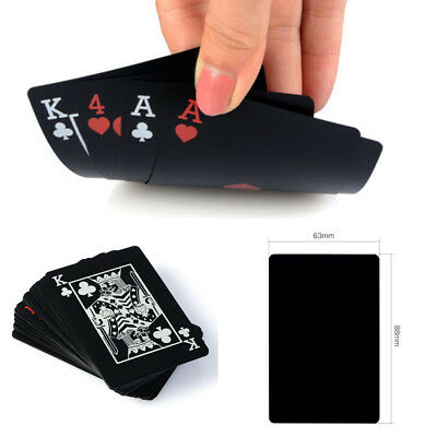 Creative Cool Black PLASTIC PVC New Deck Poker Good Playing Cards Waterproof US