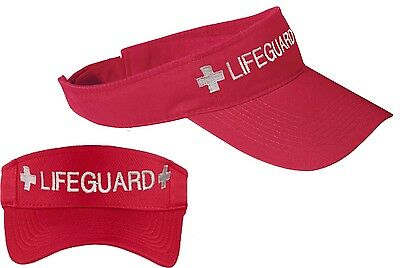LIFEGUARD VISOR / Embroidered- Adjustable- Red or Navy