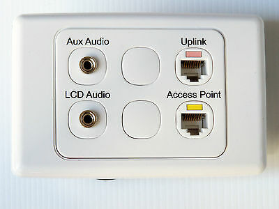CLIPSAL WALL PLATE RJ45 ETHERNET PC AUDIO 3.5mm FEMALE COMPUTER SPEAKER OUTLETS
