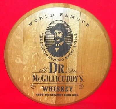Dr McGillicuddy's Engraved Wood Barrel Head Sign - New in Box!