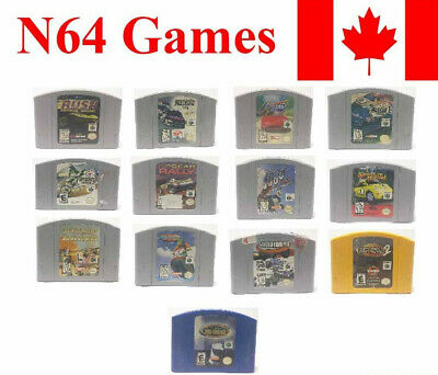 Nintendo 64 N64 Video Games Racing Nascar Skater Rally F1 Console Cartridges