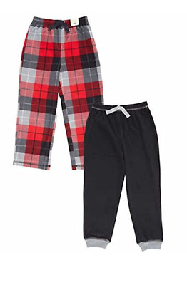 NWOT St. Eve Boy's 2-Pack Sleep Pants- Black/Red Plaid SIZE 10