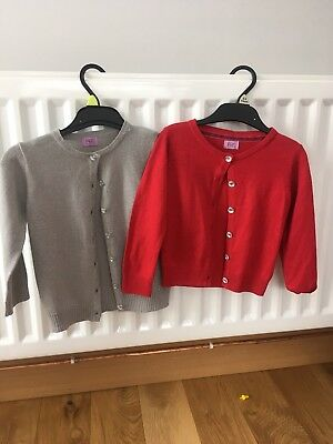 Baby Girls 18-24months Tesco F&F Next Cardigans Red And Silver Cardigans