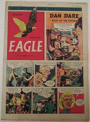 """1950. Vintage EAGLE Comic Vol.1 # 32. Cutaway of the Shell Oil Tanker """"Velutina"""""""