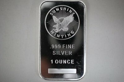 Sunshine Mint Eagle 1 oz .999 Silver Bar - Mint Mark SI
