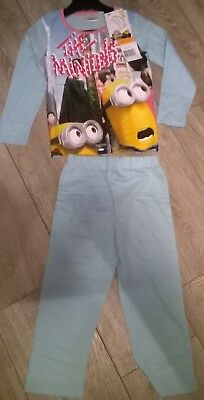 light blue Despicable Me Minions nightwear pyjamas sleepwear NEW  Girls Age 6