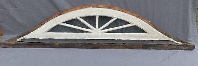 Antique Eyebrow Arch Top Dome Window Fan Sunburst Old Shabby Vtg Chic 561-17P
