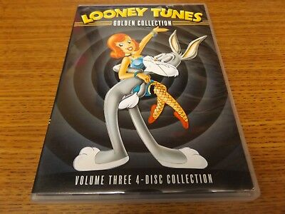 Looney Tunes Golden Collection: Vol. 3 (DVD, 2005, 4-Disc Set) NICE!