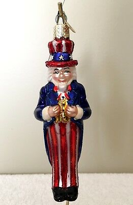 Old World Christmas UNCLE SAM Glass Ornament # 24043 - NWT