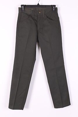 VTG 60 LEE LEENS GREEN COTTON TAPPERED PANTS USA WOMENS SIZE 27x27