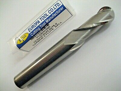 10mm SOLID CARBIDE BALL NOSED 2 FLUTED SLOT DRILL MILL EUROPA TOOL 3133031000 #2