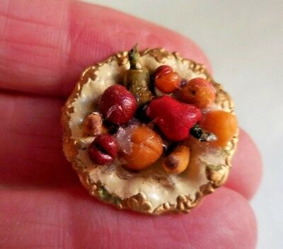Dollhouse Miniature ~ Bowl Of Fruit