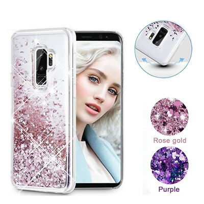 For Samsung Galaxy S10 Plus S9 Plus S8 Bling Quicksand Glitter Rubber Case Cover