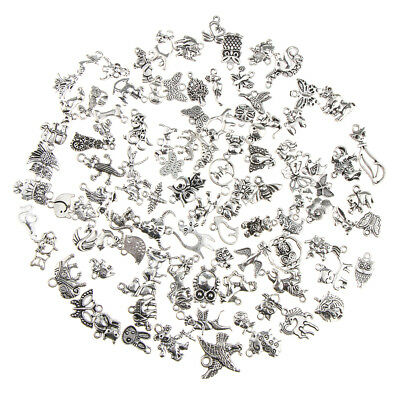 100pcs Bulk Wholesale Mixed Charms Pendants DIY Jewelry Making and Crafting