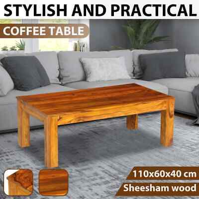 vidaXL Solid Sheesham Wood Coffee Table Living Room Console Couch Furniture