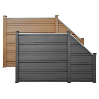 vidaXL Garden Fence Panels Fencing Screen Barrier WPC Brown/Grey Multi Sizes