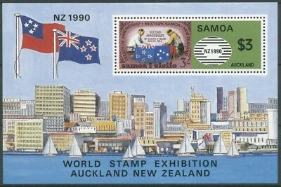 Samoa 1990 NEW ZEALAND'90 Auckland Block 48 postfrisch (C26806)