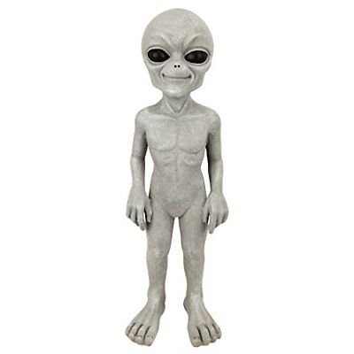 The Out-Of-This-World Alien Extra Terrestrial Statue: Small - Real Crushed Stone