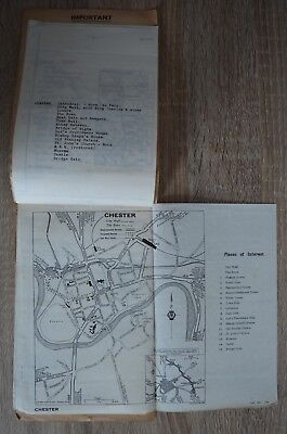 VINTAGE AA ROUTE Map Tour From Birmingham to Chester Circa 1940\'s ...