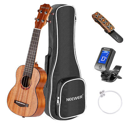Neewer Ukulele Soprano 21 pollice con Gigbag Accordatore Clip-on #ZL