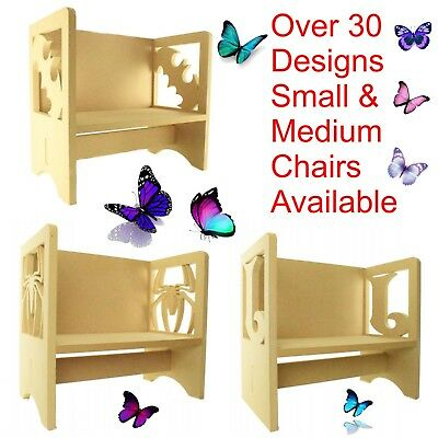Childrens Wooden Chair Table Themed Chair Kids Toddlers
