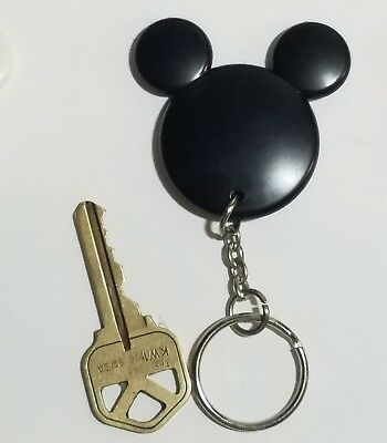 Disney Mickey Mouse BLACK Mickey Head Ears Mickey Silhouette Keychain