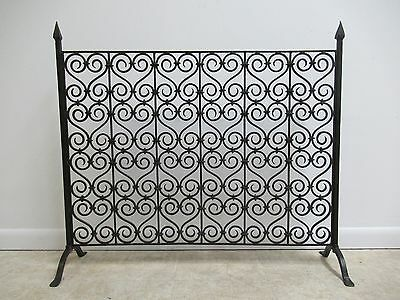 Vintage Wrought Iron French Regency Fireplace Screen Tool