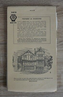 VINTAGE AA ROUTE Maps A Tour From Birmingham to Tenby Circa 1940\'s ...