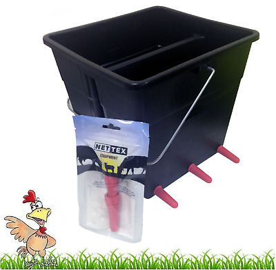 Nettex Lamb Milk Feeding bucket 4 or 6 Teat orphan lamb Milk Feeder