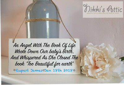 Personalised Memory of Wooden Plaque, Memorial, Child,Baby, Remembrance,