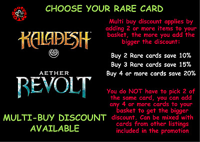 MTG Aether Revolt / Kaladesh Choose your Rare Card - Buy 2 Save 10% - New