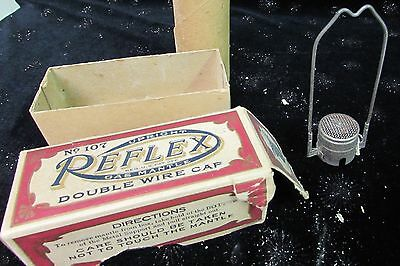 Antique Welsbach Reflex Double Wire Cap No Mantle #107 Orig Box & Tube #7