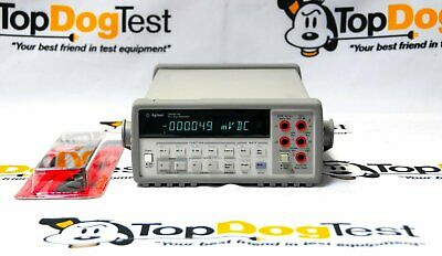 "Hp Agilent Keysight 34401A 6½ Digital Mulitimeter 5519A w/ test leads "" WARRANTY"