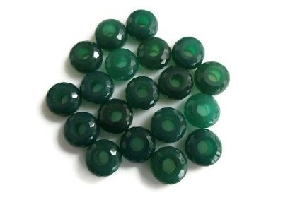 Huge 14mm Natural Green Onyx Large 5mm Hole/Drill Size Gemstone beads GDS1044/3