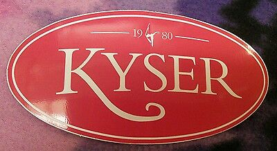 Kyser guitar capo big red sticker