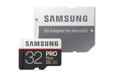 Samsung 32GB Pro Plus Micro SD Memory Card Class 10 UHS-1 U3 100MB/s & Adapter