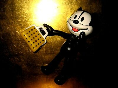 Collectible ~ Rubber Posable ~  Felix The Cat~ With Bag